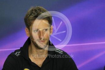 World © Octane Photographic Ltd. FIA Drivers' Press Conference. Thursday 23rd July 2015, F1 Hungarian GP, Hungaroring, Hungary. Lotus F1 Team – Romain Grosjean. Digital Ref: 1345LB1D7190