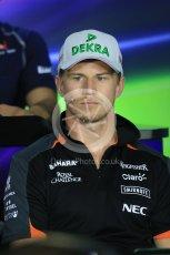 World © Octane Photographic Ltd. FIA Drivers' Press Conference. Thursday 23rd July 2015, F1 Hungarian GP, Hungaroring, Hungary. Sahara Force India – Nico Hulkenberg. Digital Ref: 1345LB1D7269