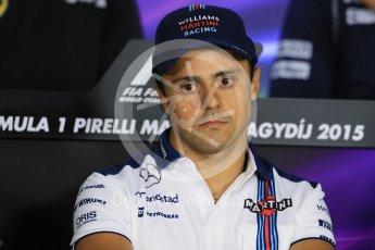 World © Octane Photographic Ltd. FIA Drivers' Press Conference. Thursday 23rd July 2015, F1 Hungarian GP, Hungaroring, Hungary. Sauber F1 Team – Felipe Nasr. Digital Ref: 1345LB1D7350