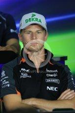 World © Octane Photographic Ltd. FIA Drivers' Press Conference. Thursday 23rd July 2015, F1 Hungarian GP, Hungaroring, Hungary. Sahara Force India – Nico Hulkenberg. Digital Ref: 1345LB1D7391