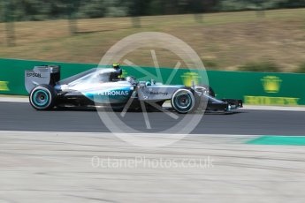 World © Octane Photographic Ltd. Mercedes AMG Petronas F1 W06 Hybrid – Nico Rosberg. Friday 24th July 2015, F1 Hungarian GP Practice 2, Hungaroring, Hungary. Digital Ref: 1348CB1L5342