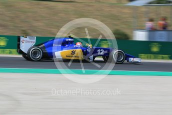 World © Octane Photographic Ltd. Sauber F1 Team C34-Ferrari – Felipe Nasr. Friday 24th July 2015, F1 Hungarian GP Practice 2, Hungaroring, Hungary. Digital Ref: 1348CB1L5361