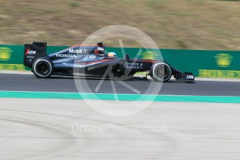 World © Octane Photographic Ltd. McLaren Honda MP4/30 – Fernando Alonso. Friday 24th July 2015, F1 Hungarian GP Practice 2, Hungaroring, Hungary. Digital Ref: 1348CB1L5365