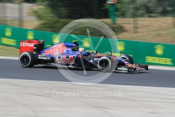 World © Octane Photographic Ltd. Scuderia Toro Rosso STR10 – Carlos Sainz Jnr. Friday 24th July 2015, F1 Hungarian GP Practice 2, Hungaroring, Hungary. Digital Ref: 1348CB1L5369