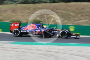 World © Octane Photographic Ltd. Scuderia Toro Rosso STR10 – Carlos Sainz Jnr. Friday 24th July 2015, F1 Hungarian GP Practice 2, Hungaroring, Hungary. Digital Ref: 1348CB1L5372