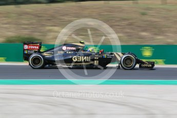 World © Octane Photographic Ltd. Lotus F1 Team E23 Hybrid – Pastor Maldonado. Friday 24th July 2015, F1 Hungarian GP Practice 2, Hungaroring, Hungary. Digital Ref: 1348CB1L5439