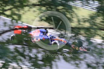 World © Octane Photographic Ltd. Scuderia Toro Rosso STR10 – Max Verstappen. Friday 24th July 2015, F1 Hungarian GP Practice 2, Hungaroring, Hungary. Digital Ref: 1348CB1L5479