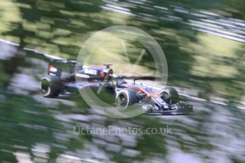 World © Octane Photographic Ltd. McLaren Honda MP4/30 – Fernando Alonso. Friday 24th July 2015, F1 Hungarian GP Practice 2, Hungaroring, Hungary. Digital Ref: 1348CB1L5491