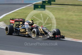 World © Octane Photographic Ltd. Lotus F1 Team E23 Hybrid – Pastor Maldonado. Friday 24th July 2015, F1 Hungarian GP Practice 2, Hungaroring, Hungary. Digital Ref: 1348CB7D8135