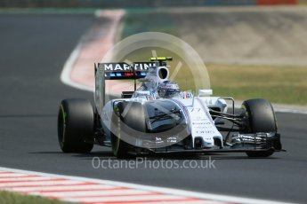 World © Octane Photographic Ltd. Williams Martini Racing FW37 – Valtteri Bottas. Friday 24th July 2015, F1 Hungarian GP Practice 2, Hungaroring, Hungary. Digital Ref: 1348LB1D8965