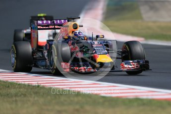 World © Octane Photographic Ltd. Infiniti Red Bull Racing RB11 – Daniel Ricciardo. Friday 24th July 2015, F1 Hungarian GP Practice 2, Hungaroring, Hungary. Digital Ref: 1348LB1D9074