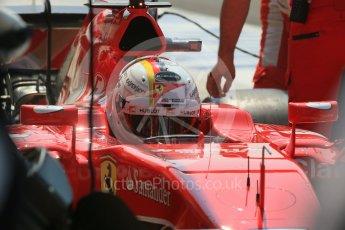 World © Octane Photographic Ltd. Scuderia Ferrari SF15-T– Sebastian Vettel. Saturday 25th July 2015, F1 Hungarian GP Practice 3, Hungaroring, Hungary. Digital Ref: 1352LB1D0188