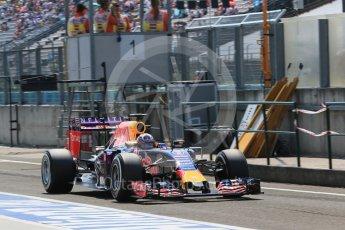 World © Octane Photographic Ltd. Infiniti Red Bull Racing RB11 – Daniel Ricciardo. Saturday 25th July 2015, F1 Hungarian GP Practice 3, Hungaroring, Hungary. Digital Ref: 1352LB1D0249