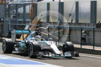 World © Octane Photographic Ltd. Mercedes AMG Petronas F1 W06 Hybrid – Lewis Hamilton. Saturday 25th July 2015, F1 Hungarian GP Practice 3, Hungaroring, Hungary. Digital Ref: 1352LB1D0298