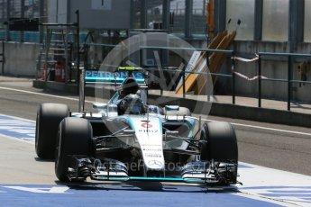 World © Octane Photographic Ltd. Mercedes AMG Petronas F1 W06 Hybrid – Nico Rosberg. Saturday 25th July 2015, F1 Hungarian GP Practice 3, Hungaroring, Hungary. Digital Ref: 1352LB1D0320