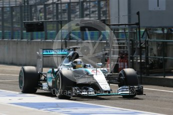 World © Octane Photographic Ltd. Mercedes AMG Petronas F1 W06 Hybrid – Lewis Hamilton. Saturday 25th July 2015, F1 Hungarian GP Practice 3, Hungaroring, Hungary. Digital Ref: 1352LB1D0366