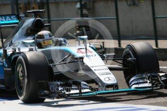 World © Octane Photographic Ltd. Mercedes AMG Petronas F1 W06 Hybrid – Lewis Hamilton. Saturday 25th July 2015, F1 Hungarian GP Practice 3, Hungaroring, Hungary. Digital Ref: 1352LB1D0375