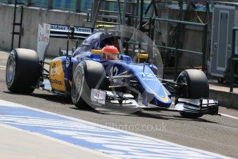 World © Octane Photographic Ltd. Sauber F1 Team C34-Ferrari – Felipe Nasr. Saturday 25th July 2015, F1 Hungarian GP Practice 3, Hungaroring, Hungary. Digital Ref: 1352LB1D0417
