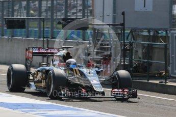 World © Octane Photographic Ltd. Lotus F1 Team E23 Hybrid – Romain Grosjean. Saturday 25th July 2015, F1 Hungarian GP Practice 3, Hungaroring, Hungary. Digital Ref: 1352LB1D0478