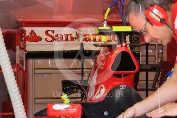 World © Octane Photographic Ltd. Scuderia Ferrari SF15-T rear wing – Kimi Raikkonen. Saturday 25th July 2015, F1 Hungarian GP Practice 3, Hungaroring, Hungary. Digital Ref: 1352LB1D9729