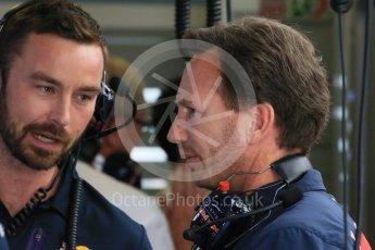 World © Octane Photographic Ltd. Infiniti Red Bull Racing - Christian Horner. Saturday 25th July 2015, F1 Hungarian GP Practice 3, Hungaroring, Hungary. Digital Ref: 1352LB1D9867