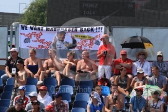World © Octane Photographic Ltd. Jan Magnussen fans. Saturday 25th July 2015, F1 Hungarian GP Practice 3, Hungaroring, Hungary. Digital Ref: 1352LB1D9939