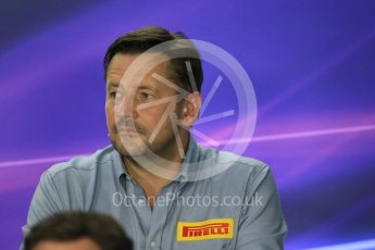 World © Octane Photographic Ltd. FIA Team Personnel Press Conference. Friday 24th July 2015, F1 Hungarian GP, Hungaroring, Hungary. Paul Hembrey – Pirelli Motorsport Director. Digital Ref: 1351LB1D9170