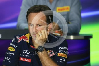 World © Octane Photographic Ltd. FIA Team Personnel Press Conference. Friday 24th July 2015, F1 Hungarian GP, Hungaroring, Hungary. Christian Horner – Infiniti Red Bull Racing Team Principle. Digital Ref: 1351LB1D9196