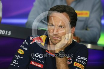 World © Octane Photographic Ltd. FIA Team Personnel Press Conference. Friday 24th July 2015, F1 Hungarian GP, Hungaroring, Hungary. Christian Horner – Infiniti Red Bull Racing Team Principle. Digital Ref: 1351LB1D9214