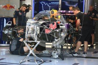 World © Octane Photographic Ltd. Infiniti Red Bull Racing RB1. Thursday 23rd July 2015, F1 Hungarian GP Pitlane, Hungaroring, Hungary. Digital Ref: 1343LB5D0010