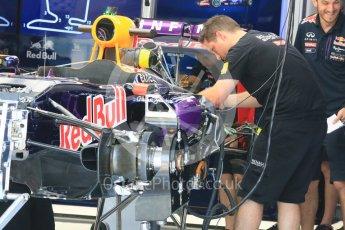 World © Octane Photographic Ltd. Infiniti Red Bull Racing RB1. Thursday 23rd July 2015, F1 Hungarian GP Pitlane, Hungaroring, Hungary. Digital Ref: 1343LB5D0015