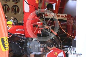 World © Octane Photographic Ltd. Scuderia Ferrari SF15-T. Thursday 23rd July 2015, F1 Hungarian GP Pitlane, Hungaroring, Hungary. Digital Ref: 1343LB5D0041