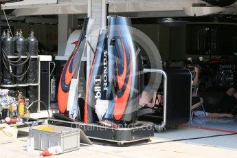 World © Octane Photographic Ltd. McLaren Honda MP4/30. Thursday 23rd July 2015, F1 Hungarian GP Pitlane, Hungaroring, Hungary. Digital Ref: 1343LB5D0059