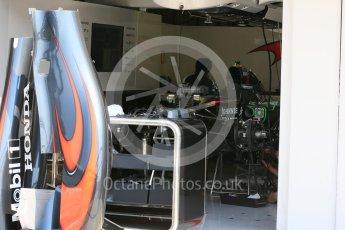 World © Octane Photographic Ltd. McLaren Honda MP4/30. Thursday 23rd July 2015, F1 Hungarian GP Pitlane, Hungaroring, Hungary. Digital Ref: 1343LB5D0064
