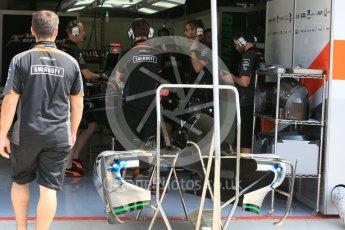 World © Octane Photographic Ltd. Sahara Force India VJM08B. Thursday 23rd July 2015, F1 Hungarian GP Pitlane, Hungaroring, Hungary. Digital Ref: 1343LB5D0068