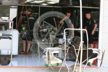 World © Octane Photographic Ltd. Sahara Force India VJM08B. Thursday 23rd July 2015, F1 Hungarian GP Pitlane, Hungaroring, Hungary. Digital Ref: 1343LB5D0085