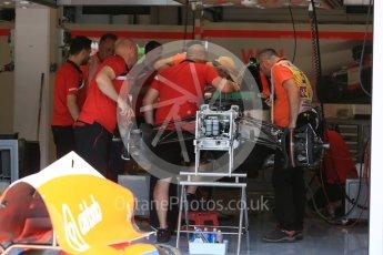 World © Octane Photographic Ltd. Manor Marussia F1 Team MR03B. Thursday 23rd July 2015, F1 Hungarian GP Pitlane, Hungaroring, Hungary. Digital Ref: 1343LB5D0132