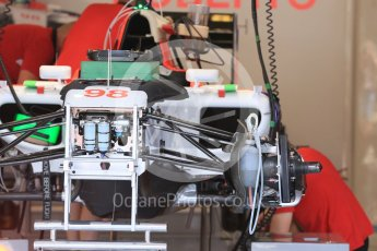 World © Octane Photographic Ltd. Manor Marussia F1 Team MR03B – Roberto Merhi. Thursday 23rd July 2015, F1 Hungarian GP Pitlane, Hungaroring, Hungary. Digital Ref: 1343LB5D0143