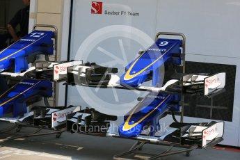 World © Octane Photographic Ltd. Sauber F1 Team C34-Ferrari – Marcus Ericsson. Thursday 23rd July 2015, F1 Hungarian GP Pitlane, Hungaroring, Hungary. Digital Ref: 1343LB5D0152