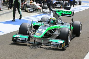 World © Octane Photographic Ltd. Friday 24th July 2015. Status Grand Prix – Marlon Stockinger. GP2 Practice Session – Hungaroring, Hungary. Digital Ref. : 1347CB1L5148