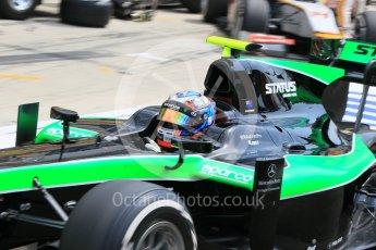 World © Octane Photographic Ltd. Friday 24th July 2015. Status Grand Prix – Richie Stanaway. GP2 Practice Session – Hungaroring, Hungary. Digital Ref. : 1347CB1L5167