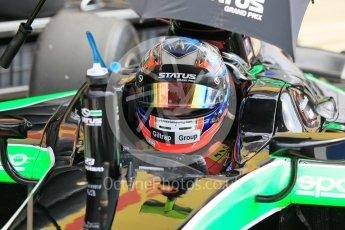 World © Octane Photographic Ltd. Friday 24th July 2015. Status Grand Prix – Richie Stanaway. GP2 Practice Session – Hungaroring, Hungary. Digital Ref. : 1347CB1L5210
