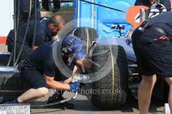 World © Octane Photographic Ltd. Friday 24th July 2015. Daiko Team Lazarus pitstop practice. GP2 Practice Session – Hungaroring, Hungary. Digital Ref. : 1347CB7D7905