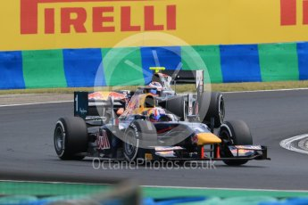 World © Octane Photographic Ltd. Friday 24th July 2015. DAMS – Pierre Gasly and Trident – Rene Binder. GP2 Practice Session – Hungaroring, Hungary. Digital Ref. :