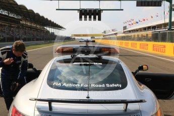 World © Octane Photographic Ltd. Saturday 25th July 2015. Mercedes AMG GTs Safety car. GP2 Race 1 – Hungaroring, Hungary. Digital Ref. : 1354CB7D8669