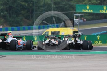 World © Octane Photographic Ltd. Saturday 25th July 2015. The pack heads out of turn 3. GP2 Race 1 – Hungaroring, Hungary. Digital Ref. : 1354CB7D8825