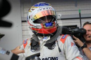 World © Octane Photographic Ltd. Saturday 25th July 2015. Rapax – Sergey Sirotkin (provisional 3rd). GP2 Race 1 parc ferme – Hungaroring, Hungary. Digital Ref. : 1354LW1L6631