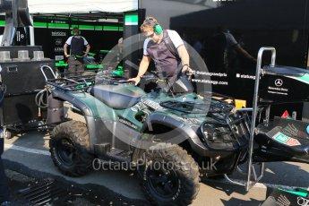 World © Octane Photographic Ltd. Friday 24th July 2015. Status Grand Prix pit team on the way! GP3 Practice Session – Hungaroring, Hungary. Digital Ref. : 1350CB7D8212