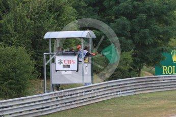 World © Octane Photographic Ltd. Saturday 25th July 2015. Green flag. GP3 Race 1 – Hungaroring, Hungary. Digital Ref. :