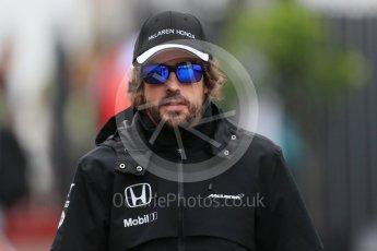 World © Octane Photographic Ltd. McLaren Honda MP4/30 – Fernando Alonso. Saturday 5th September 2015, F1 Italian GP Paddock, Monza, Italy. Digital Ref: 1409LB1D0289